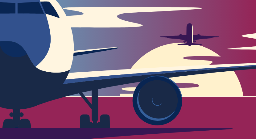 abstract image of airplane